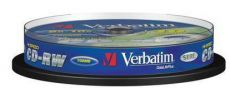 Диск CD-RW Verbatim 700Mb 10x Cake Box DataLife+ (10шт) 43480